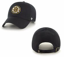 NHL Basecap BOSTON BRUINS black clean-up hat Eishockey 47Brand Baseballcap