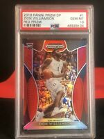 ZION Williamson RED Refractor Panini Prizm PSA 10 Gem Mint Rookie Card LOW POP!