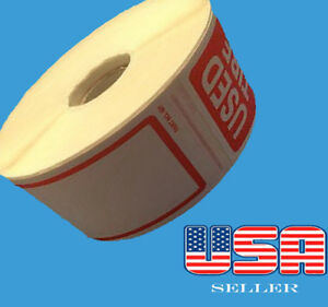 """250 Used Tire STICKERS Roll Size 2.50"""" X 6"""" Total 250 Stickers"""