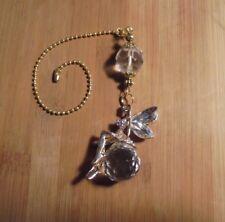 Fairy Ballerina Crystal~Ceiling Fan Pull~Hook on Chain/Lamp/Auto Mirror~Gold