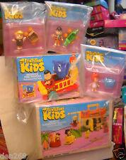 #4787 Coleco Flintstone Kids Bedrock Elementary School, Fire Truck & 3 Figures