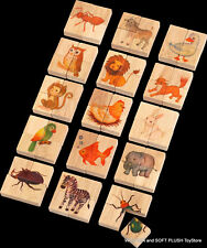 *NEW wooden EDUCATIONAL toy ~ 15  ANIMALS JIGSAW PUZZLE