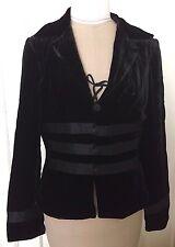 KAY UNGER SZ 6 Black Velvet Blazer Jacket Corset Waist Steampunk