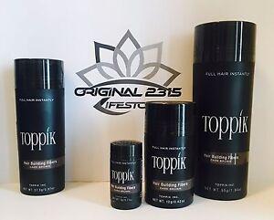 Toppik Hair Building Fibers, Microfibre di Cheratina anti diradamento Calvizie