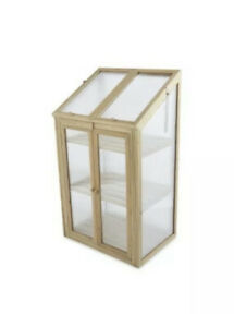 Small Natural Wooden Greenhouse  -  (69 x 49 x 120cm) - *UK SELLER*