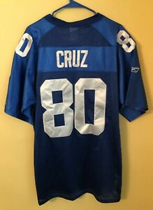 Victor Cruz Blue New York Giants #80 Reebok NFL Football Jersey Sewn Size 54