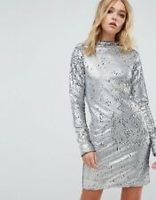 Cheap Monday Sequin High Neck Dress silver M NWT