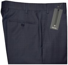 $325 NWT ZANELLA NORDSTROM DEVON BLUE & BLACK PLAID SUPER 120'S WOOL PANTS 36