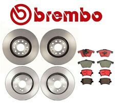 For Audi A4 Quattro Front Rear Brembo Brake Kit Coated Disc Rotors Ceramic Pads