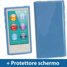 Blu Custodia TPU Gel per Nuovo Apple iPod Nano 7 Gen Generazione 7G Cover Rigida