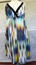 Next Multi-Colour Floaty Printed Summer Occasion Midi Dress Size 20 NWT@ £28