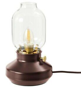Ikea TÄRNABY Table Lamp, Dark Red Dimmable Old Kerosene Inspired Lamp New