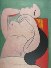 Pablo Picasso, Sleeping woman, Plate Signed Lithograph