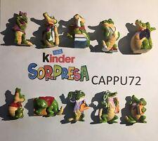 COCCODRITTI COMPLETA +No cartina No BPZ No papier  Kinder sorpresa Anno 1992