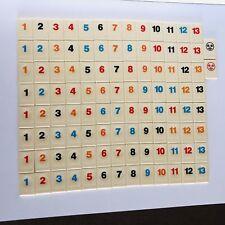 RUMMIKUB REPLACEMENT TILES -- 104 TILES Numbers 1-13 With 2 Jokers