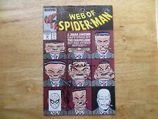 1989 MARVEL WEB OF SPIDER-MAN # 39 SIGNED JOHN ROMITA SR. & ALEX SAVIUK, POA