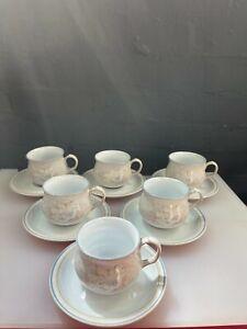 6 x Denby Tasmin Tea Cups and Saucers Last Set Available