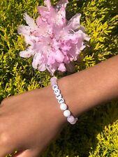 Personalised Pink Pearl Beaded Name Bracelet