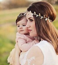 Mommy & Baby matching Gold & Silver Leaves Headband Set with FREE Shipping!