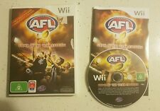 Nintendo Wii - AFL Game of the Year Edition - Complete- Fast Free Post! PAL VGC