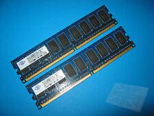 Nanya 2GB (2x1GB) NT1GT72U89D0BY-AD PC2-6400E ECC Server Memory