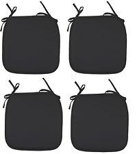 4 x Seat Pads Black Garden Chair Cushion Kitchen Dining Patio Chair Cushion Pads