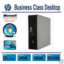 HP Desktop PC Computer Windows 7 (Win 7) Dual Core 4GB RAM 80GB HDD DVD