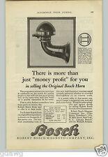 1925 PAPER AD Bosch Horn Horns Junior Standard Master Car Auto Automobile