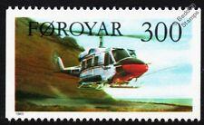 Bell 212 Twin Huey/Helicóptero de doble de dos doce aviones sello 1985 Islas Feroe