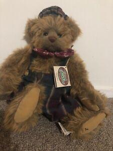 "14"" Ganz Cottage Collectibles BEAR ""DEMPSTER"" artist designed plush stuffed -tag"
