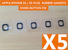 5 x New Self Adhesive Rubber Gaskets For Home Menu Button FIX iPhone 6S / 6SPlus