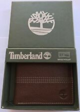 GENUINE TIMBERLAND BROWN LEATHER SPORTZ QUAD BIFOLD WALLET BRAND NEW IN GIFT BOX