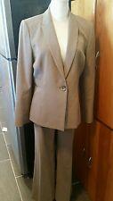 Calvin klein one button blazer pant suit brown size 12P