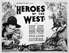 OLD MOVIE PHOTO Heroes Of The West Poster Onslow Stevens Julie Bishop As