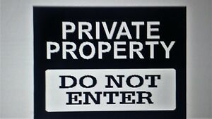 Private Property Sign girl/ boy /bedroom funny Vinyl wall art Decal Sticker