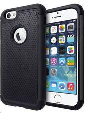Housses et coques anti-chocs noir en plastique rigide iPhone 6 Plus pour téléphone mobile et assistant personnel (PDA)