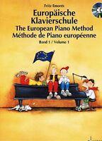 Klavier Noten Schule : Europäische Klavierschule Band 1 mit CD Anfänger (EMONTS)