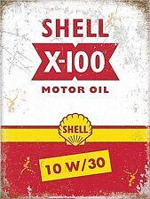 Shell X-100 Motor Oil steel fridge magnet   (og)