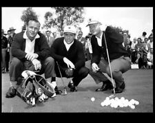 Jack Nicklaus Gary Player PHOTO Arnold Palmer, BIG THREE, Golf Balls Clubs Bag