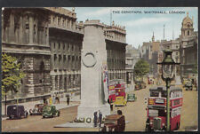 London Postcard - London Buses at The Cenotaph, Whitehall  RS4203