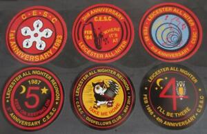 NORTHERN SOUL RECORD BOX STICKERS - SET OF 6 LEICESTER ALLNIGHTER STICKERS