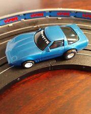 Tyco Blue Corvette Slot Car