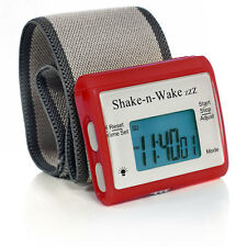 Shake N Wake Clock Silent Vibrating Personal Alarm Digital LED Clock RED