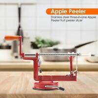 Stainless Steel 3 in 1 Apple Peeler Kitchen Fruit Slicer Machine Home Tool   AU