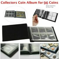 96 Album Coin Penny Money Storage Book Case Folder Holder Collection Collecting