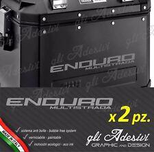 2 Adesivi per valigie GIVI Trekker Ducati Multistrada ENDURO borse nere