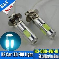 2x H3 COB 4W High Power LED 8000K Ice Blue Projector Fog Light Lamp Bulbs DC 12V