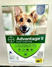 advantage ll Xlg Dog 6 pk 55 lbs (Bayer) kills fleas/eggs/larvae waterproof NIB