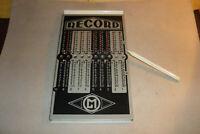Original alte Metall - Rechenmaschine Record mit original Stift !