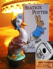 Beatrix Potter JEMIMA PUDDLEDUCK  BP2 Beswick gold oval Good  BOXED condition